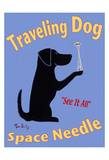 Traveling Dog - Space Needle Limited Edition by Ken Bailey