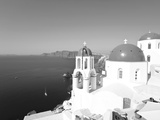 Blue Domed Churches in the Village of Oia, Santorini (Thira), Cyclades Islands, Aegean Sea, Greece Photographic Print by Gavin Hellier