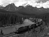 Morants Curve, Bow River, Canadian Pacific Railway, Near Lake Louise, Banff National Park, UNESCO W Photographic Print by Hans-Peter Merten