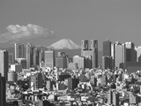 Mt.Fuji and Tokyo Shinjuku Area Skyline, Tokyo, Japan Photographic Print by Steve Vidler