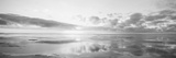 Solopgang på strand, Nordsøen, Tyskland Fotografisk tryk af Panoramic Images