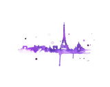 A Purple Paris Posters by Jessica Durrant