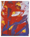 Abstract Painting, c. 1982 (indigo, red, white) Póster por Andy Warhol