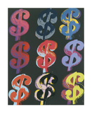 $9, 1982 (on black) Giclee Print by Andy Warhol
