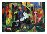 Abstract with Cattle Prints by Franz Marc