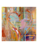 Abstract Heart Prints by Amy Dixon