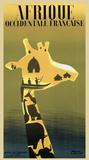 Westafrika (französisch), ca. 1948 Kunstdrucke von Paul Colin