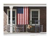Amerikanische Flagge Kunstdruck von Zhen-Huan Lu