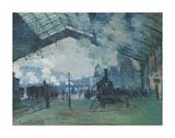 Arrival of the Normandy Train, Gare Saint-Lazare, 1877 Pôsters por Claude Monet
