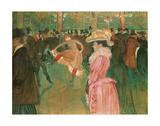At the Moulin Rouge: The Dance, 1890 Prints by Henri de Toulouse Lautrec