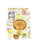 Apple Tart Recipe Prints by Lucile Prache