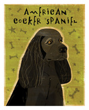 American Cocker Spaniel (black) Art by John W. Golden