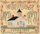 American School House ABC Sampler Prints by Cheryl Bartley
