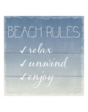 Beach Rules Prints by  Sparx Studio