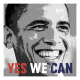 Barack Obama: Yes We Can Plakat af Celebrity Photography