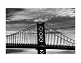 Benjamin Franklin Bridge (b/w) Prints by Erin Clark