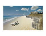 Beach House View Print by Zhen-Huan Lu