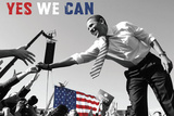 Barack Obama: Yes We Can (crowd) Art by  Celebrity Photography