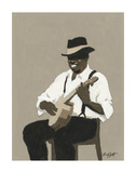 Banjo Player Posters by William Buffett