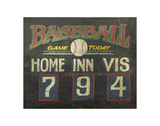 Baseball Game Today (Scoreboard) Posters by  Zeke's Antique Signs