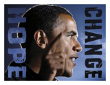 Barack Obama: Hope, Change Prints by  Celebrity Photography