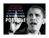 Barack Obama: For As Long As I Live... Posters by  Celebrity Photography