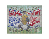 Baseball Game Today (America's Pastime) Print by  Zeke's Antique Signs