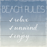 Beach Rules Poster by  Sparx Studio