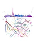 Beneath Paris Poster af Jessica Durrant