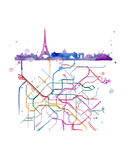 Beneath Paris Poster by Jessica Durrant