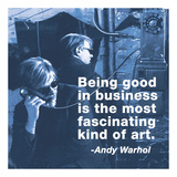 Being good in business is the most fascinating kind of art (color square) Prints by Andy Warhol/ Billy Name