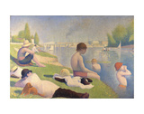 Bathers at Asnieres, 1884 Prints by Georges Seurat
