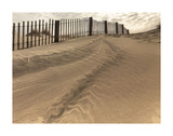 Beach Fence Art by Derek Jecxz