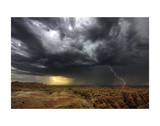 Badlands Lightning Prints by Stephen Gassman