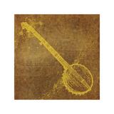 John W. Golden - Banjo - Giclee Baskı