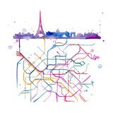 Beneath Paris Plakater af Jessica Durrant