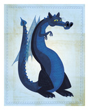 Blue Dragon Posters by John W. Golden