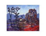 Blue Joshua Rock Prints by Erin Hanson