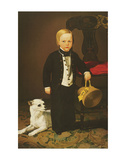 Boy with Dog Plakater af Charles Christian Nahl