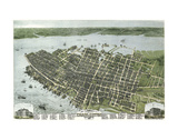 Bird's Eye View of the City of Charleston, South Carolina, 1872 Posters by C.N. Drie