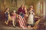 Betsy Ross, 1777 Prints by Jean Leon Gerome Ferris
