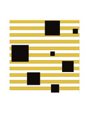 Black Block on Stripe Prints by Dan Bleier