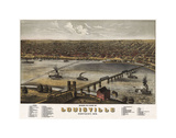 Bird's Eye View of Louisville, Kentucky, 1876 Posters by A. Ruger
