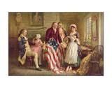 Betsy Ross, 1777 Print by Jean Leon Gerome Ferris