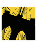 Brooklyn Bridge (yellow) Poster by Erin Clark
