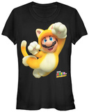 Juniors: Super Mario Bros- Cat Mario Shirt