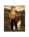 Junge mit Hund Kunstdruck von Charles Christian Nahl
