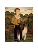 Boy with Dog Poster by Charles Christian Nahl