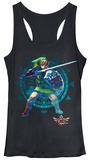 Juniors Tank Top: Legend of Zelda- Link Defense Womens Tank Tops