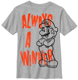 Youth: Super Mario Bros- Always a Winner T-Shirt